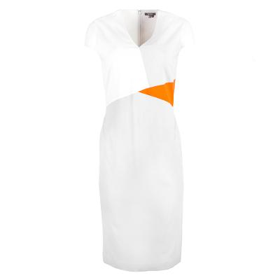colour block midi dress white